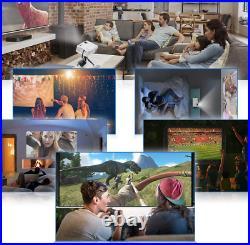 QKK AK-81 Projector + Screen 6500 Lumens 1080P Full HD Support HDMI, Home Cinema