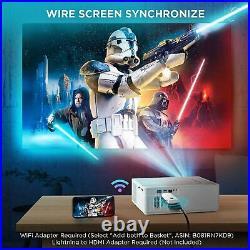 SALE Projector, BOMAKER 7200 Lux Native 1080P, 5D Keystone Outdoor Movie