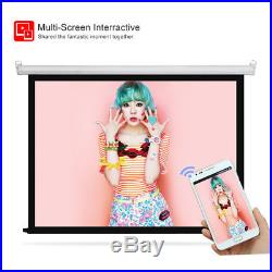 Tragbar 96+ 1080p Full HD LED Heimkino Beamer Projektor HDMI Y/Pb/Pr AV USB VGA