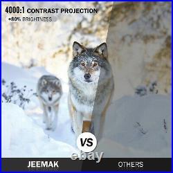 Tragbarer Projektor HD 1080P LED Heimkino Video Cinema Projektor HDMI USB JEEMAK