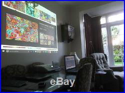 Ultra Short Throw 2200 Lmn Hdmi Usb. Hdtv Hitachi. LCD Projector Used Only 29 Hr