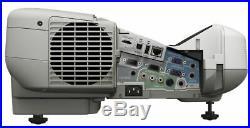 Ultra Short Throw 2600 Lumens Epson LCD Projector New Lamp Hdmi Hd Usb