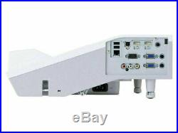 Ultra Short Throw 2700 Lmn Hitachi LCD Projector 5000 Hrs New Lamp 2 X Hdmi