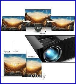 Video Projector 6800L GooDee Indoor & Outdoor 2021 Upgrade Bundle YG600 NEW