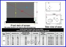 Vividstorm ALR 100 UST 4K Electric Floor Rising Projector Screen EU Model