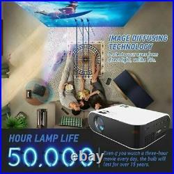 WiFi 3D Full HD 1080P LED Projector Mini Home Cinema Bluetooth VGA/USB/HDMI AV