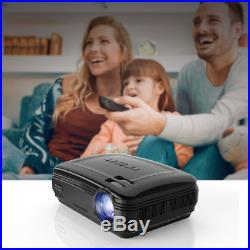 WiFi 4K 3D 1080P LED Projector Home Theater Android Bluetooth AV/TV/USB/HDMI 8GB