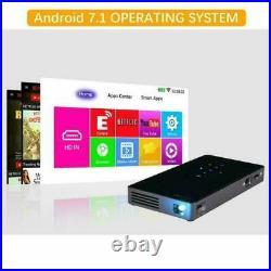 WiFi 4K 3D Full HD 1080P LED Projector Mini Home Cinema Bluetooth DLP HD USB TF