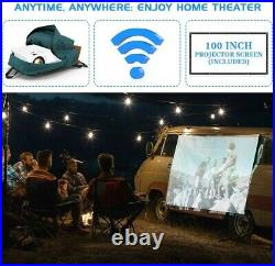 Wifi Projector Jinhoo 4500 Lumen Video Projector 1080P Full HD Supported With