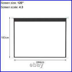 XLarge 120 Electric Screen Projector Projection Motorised Home Cinema 43 169