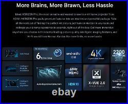 Xgimi Horizon Pro, 4K DLP, HDR 10, Android10-5GHz, 2200ansi, Chromecast